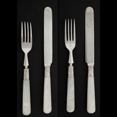 Expertissim - Couverts à dessert-Expertissim-Douze fourchettes et douze couteaux à dessert en m