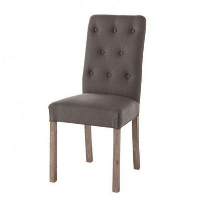 Maisons du monde - Chaise-Maisons du monde-Chaise taupe grisé Elizabeth