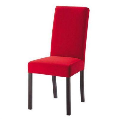 Maisons du monde - Housse de chaise-Maisons du monde-Housse rouge Margaux