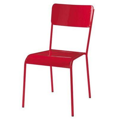 Maisons du monde - Chaise-Maisons du monde-Chaise rouge Edison
