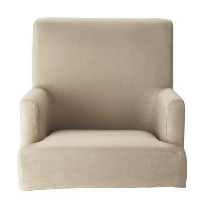 Maisons du monde - Housse de fauteuil-Maisons du monde-Housse de fauteuil de bar lin Lounge