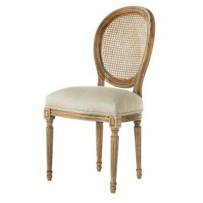 Maisons du monde - Chaise médaillon-Maisons du monde-Chaise lin Louis