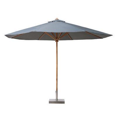Maisons du monde - Parasol-Maisons du monde-Parasol 350 cm rond gris Oléron