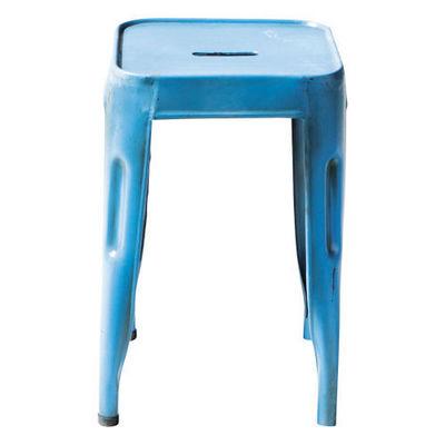 Maisons du monde - Tabouret-Maisons du monde-Tabouret bleu Jim