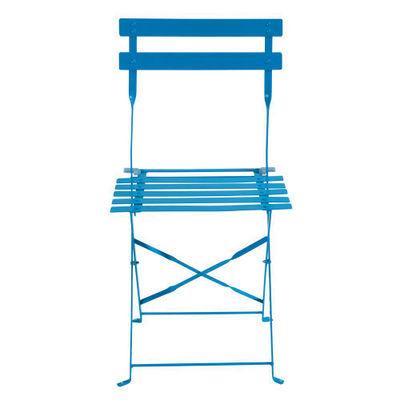 Maisons du monde - Chaise de jardin-Maisons du monde-Lot de 2 chaises bleues Guinguette