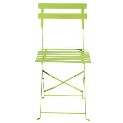 Maisons du monde - Chaise de jardin-Maisons du monde-Lot de 2 chaises anis Confetti
