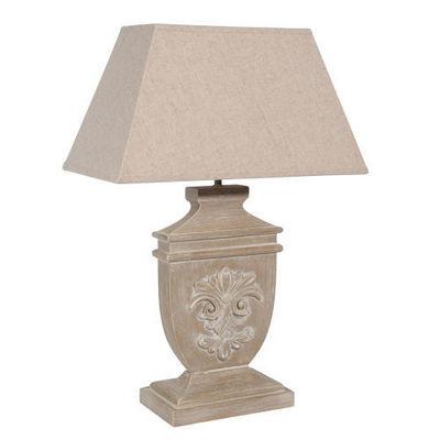Maisons du monde - Lampe à poser-Maisons du monde-Lampe Lys bois cérusé