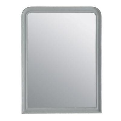 Maisons du monde - Miroir-Maisons du monde-Miroir Elianne arrondi gris 90x120