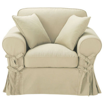 Maisons du monde - Fauteuil-Maisons du monde-Fauteuil coton mastic Butterfly