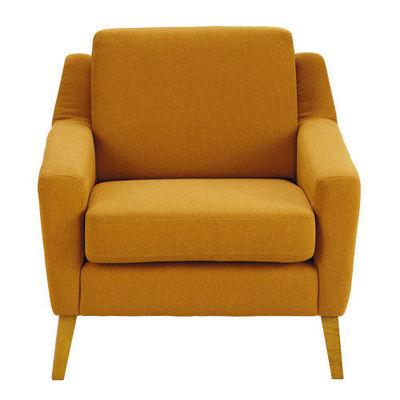 Maisons du monde - Fauteuil-Maisons du monde-Fauteuil linara orange Mad Men