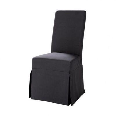 Maisons du monde - Housse de chaise-Maisons du monde-Housse gris ardoise Margaux