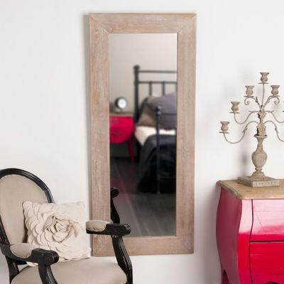 Maisons du monde - Miroir-Maisons du monde-Miroir Natura cérusé 56x130