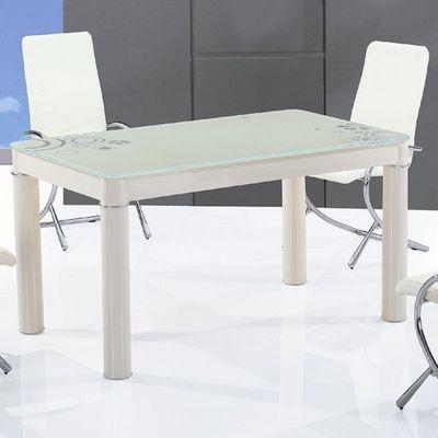 CLEAR SEAT - Table de repas rectangulaire-CLEAR SEAT-Table en Verre Rectangle Cr�me Boreal