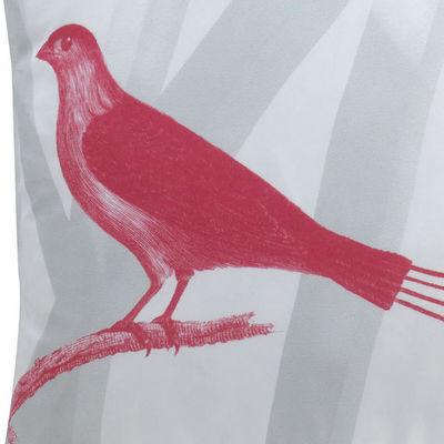 TROIS MAISON - Coussin carré-TROIS MAISON-Coussin Oiseau en soie - Quatre brins
