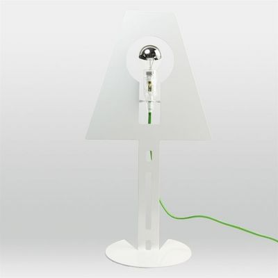 Fenel & Arno - Lampe à poser-Fenel & Arno-Lampe design 2D 2Plis blanche fil vert