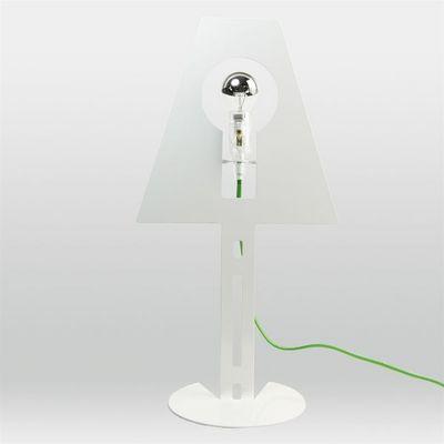 Fenel & Arno - Lampe � poser-Fenel & Arno-Lampe design 2D 2Plis blanche fil vert