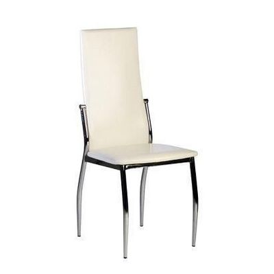 CLEAR SEAT - Chaise de restaurant-CLEAR SEAT-Chaises Simili Blanches Cairo Lot de 4