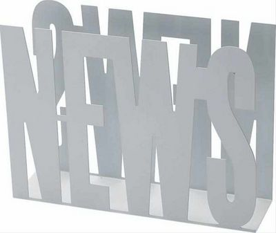 Balvi - Range-revues-Balvi-Porte-revues design en métal blanc news 31.5x42x11