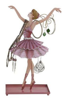 Balvi - Porte-bijoux-Balvi-Porte bijoux ballerine en métal 35x21,5x15cm
