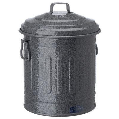 Poubelle de table en m tal gris 16x14cm poubelle de - Poubelle de table design ...