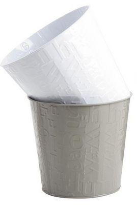BARCLER - Cache-pot-BARCLER-Cache-pot alphabet en métal blanc 18,5x16,5cm