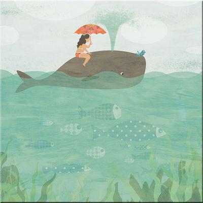 DECOHO - Tableau décoratif enfant-DECOHO-Balade en baleine
