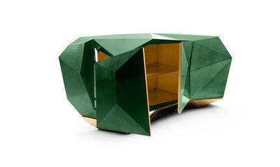 BOCA DO LOBO - Buffet bas-BOCA DO LOBO-Diamond Emerald