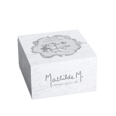 Mathilde M - Savon-Mathilde M-Boîte Savon rond Ange, parfum Rose ancienne