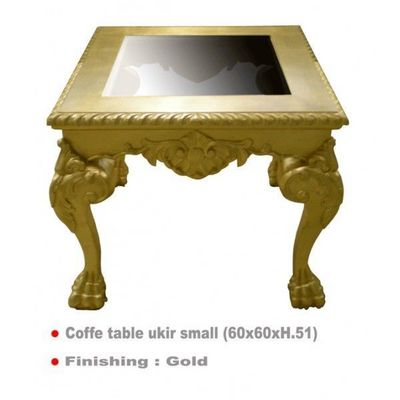DECO PRIVE - Table basse carrée-DECO PRIVE-Table basse doree 60 x 60 cm Ukir