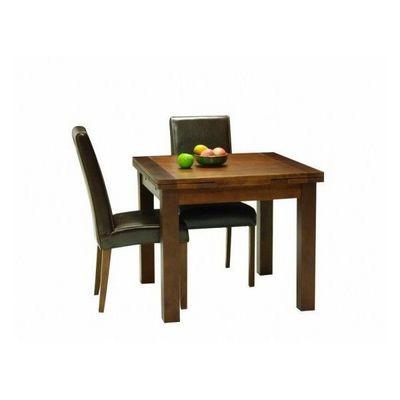 DECO PRIVE - Table de repas carrée-DECO PRIVE-Table de salle a manger carree en bois extensible