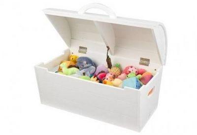 KidKraft - Coffre à jouets-KidKraft-Coffre de rangement en bois blanc - KIDKRAFT