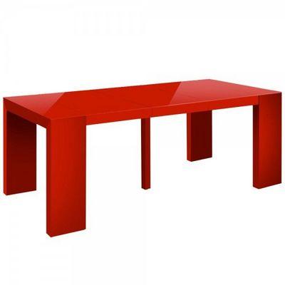 WHITE LABEL - Table de repas rectangulaire-WHITE LABEL-Table console extensible 3 rallonges Shannon