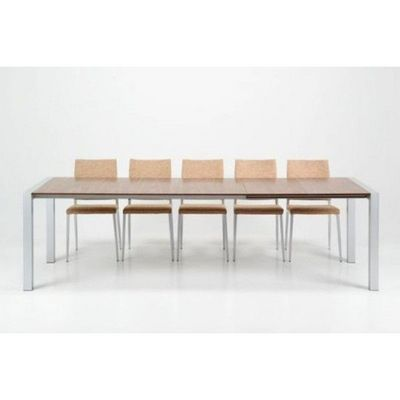 WHITE LABEL - Table de repas rectangulaire-WHITE LABEL-Table extensible design Marcy