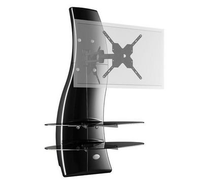 Meliconi - Support d'écran-Meliconi-Ghost Design 2000 - noir glossy - Meuble mural