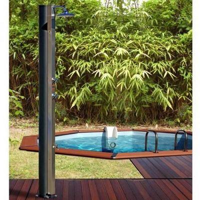 Cristaline - Douche d'extérieur-Cristaline-Douche solaire 40L inox avec rince pieds