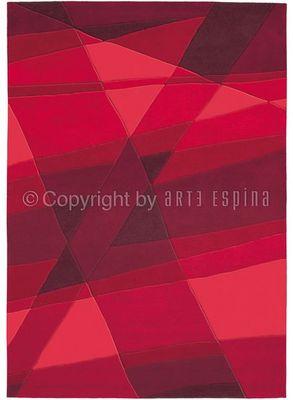 Arte Espina - Tapis contemporain-Arte Espina-Tapis de petit tapis LUMINOUS Rouge 70x140 en Acry