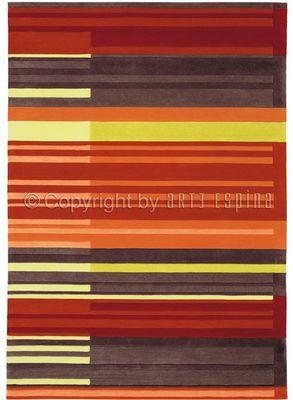 Arte Espina - Tapis contemporain-Arte Espina-Tapis de petit tapis COLOUR CODES rouge 70x140 en