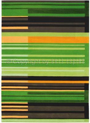 Arte Espina - Tapis contemporain-Arte Espina-Tapis de salon COLOUR CODES vert 140x200 en Acryli