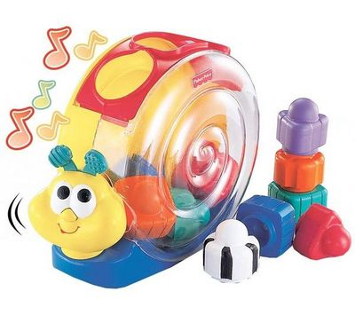 Fisher-Price - Jeux de construction-Fisher-Price-Bote  formes escargot