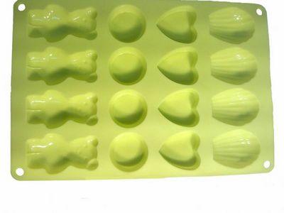 WHITE LABEL - Moule � g�teau-WHITE LABEL-Moule 16 biscuits en silicone