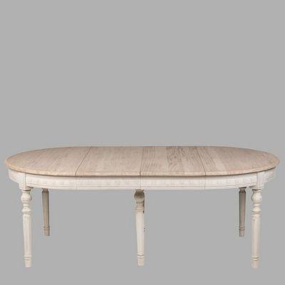 BLANC D'IVOIRE - Table de repas ovale-BLANC D'IVOIRE-HUBERT