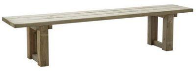 BARCLER - Banc de jardin-BARCLER-Banc de jardin en bois traité autoclave 200x44cm