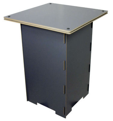 WERKHAUS - Table enfant-WERKHAUS-Table de jeu grise en bois pour enfant 50x50x67cm