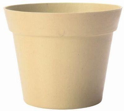 MARC VERDE - Cache-pot-MARC VERDE-Pot déco beige en bambou et résine 19x17cm
