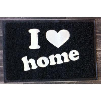 Cm - Paillasson-Cm-Paillasson I love home - Couleur - Noir