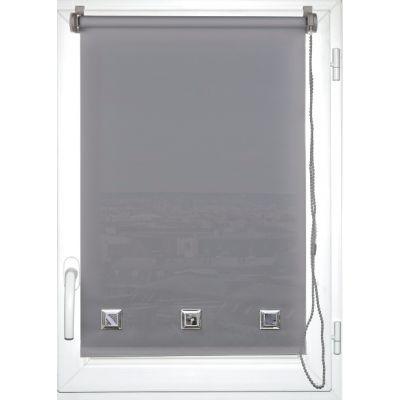 Luance - Store occultant-Luance-Store enrouleur tamisant oeillets 45x180cm gris