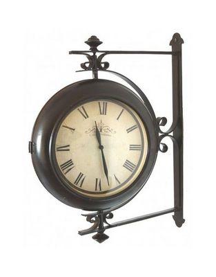 L'HERITIER DU TEMPS - Horloge murale-L'HERITIER DU TEMPS-Pendule de Gare Murale Rotative 30cm