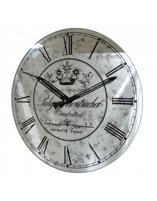 L'HERITIER DU TEMPS - Horloge murale-L'HERITIER DU TEMPS-Horloge Miroir Murale Grise 39cm