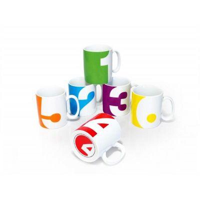 Suck Uk - Mug-Suck Uk-Set de 6 mugs Numéros