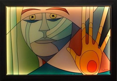 LIGHT MY ART - Tableau contemporain-LIGHT MY ART-«L'adieu » © par Salma